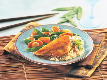 Image of Asian Glazed Chicken & Stir-fry Vegetables, Kitchen Daily