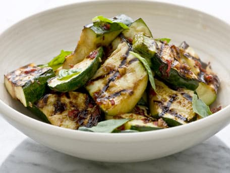 Grilled Zucchini with Basil and Balsamic