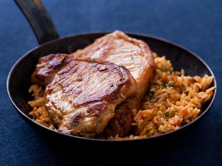 Spanish Pork Chops with Rice