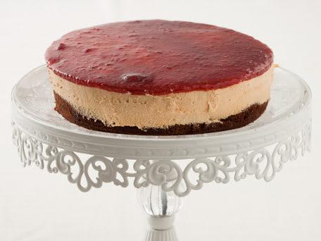 Chocolate Caramel Raspberry Mousse Cake