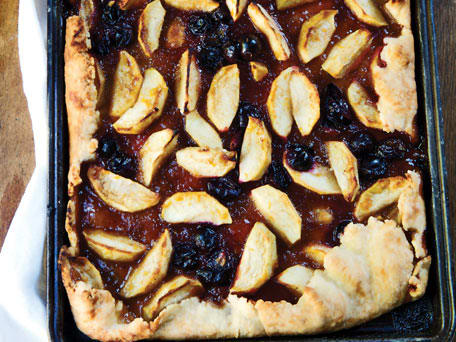 Apple and Concord Grape Tart