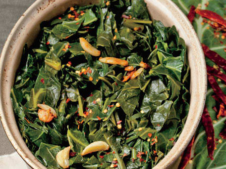 Quick Braised Collards with Pot Liquor