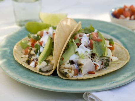 Grilled Fish Tacos with Pico de Gallo