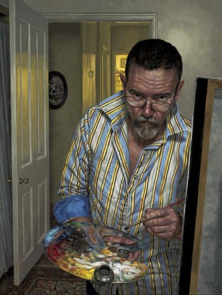 F. Scott Hess, Self-Portrait with Upturned Collar,