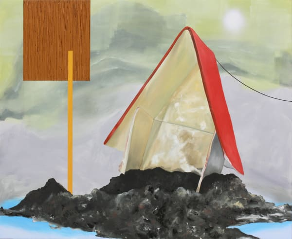 Sandy Says So, 2012  oil and spray paint on panel