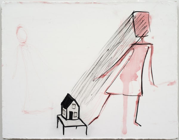 Emanations of the House, 2012. Ink and gesso on li