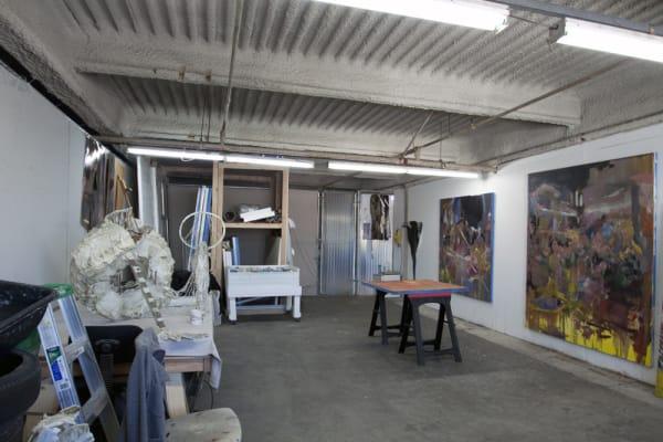 Studio in preparation for solo exhibition at Weste