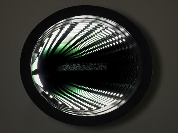 Abandon (Agbar), 2011  neon, wood, paint, Plexigl
