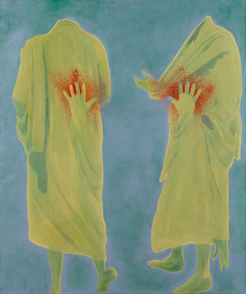 """""""Subject to Debate, 2012, 72 x 66 inches, oil on"""