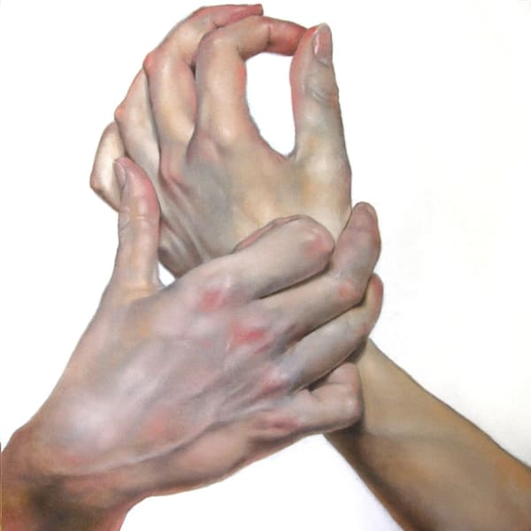 Hands #1, oil on canvas, 24
