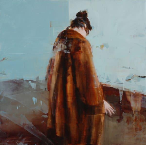 L.D.V. with Blindfold, 2012, oil on panel, 18