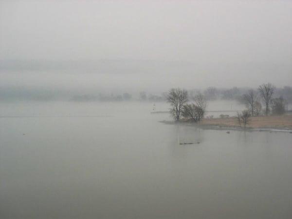 Morning fog on Cayuga Lake. Ithaca, NY. I felt imm