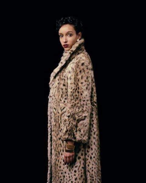 Girl with the Leopard Coat, 2011.  Digital chromog