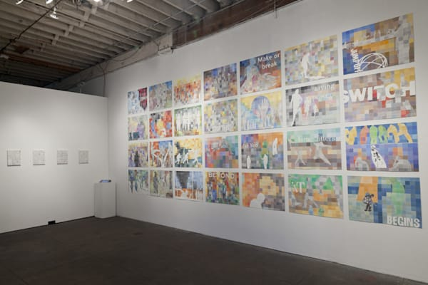 Installation at PØST gallery in Los Angeles, CA i