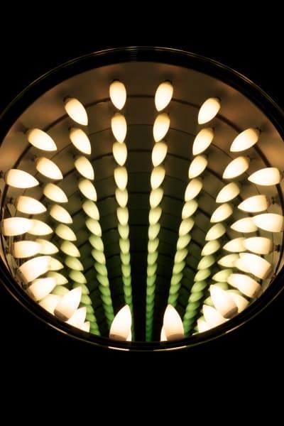 Man Hole (Icon), 2011  Neon light, plywood, glass