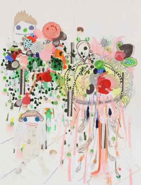 Super Future Shoob, 2012 Mixed Media on Paper  66