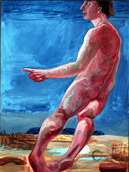Prehistoric Figure, 1978-1980 acrylic on panel 40