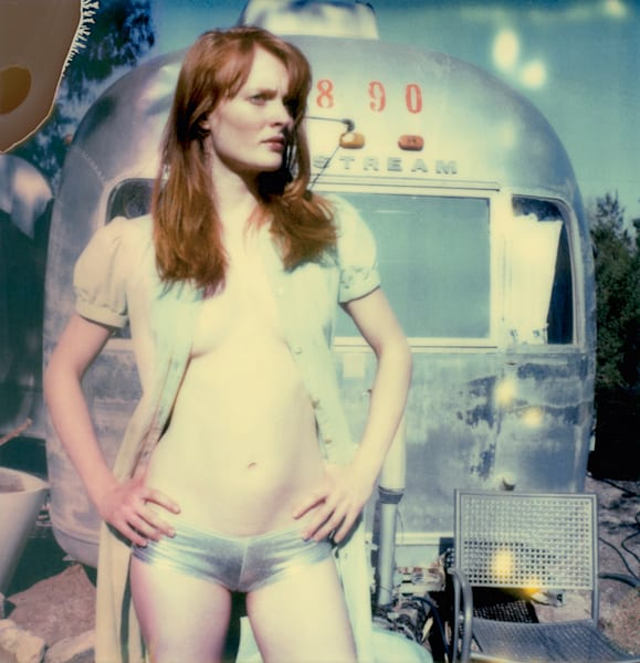 Daisy in front of Trailer (from Hitchhiker / Till