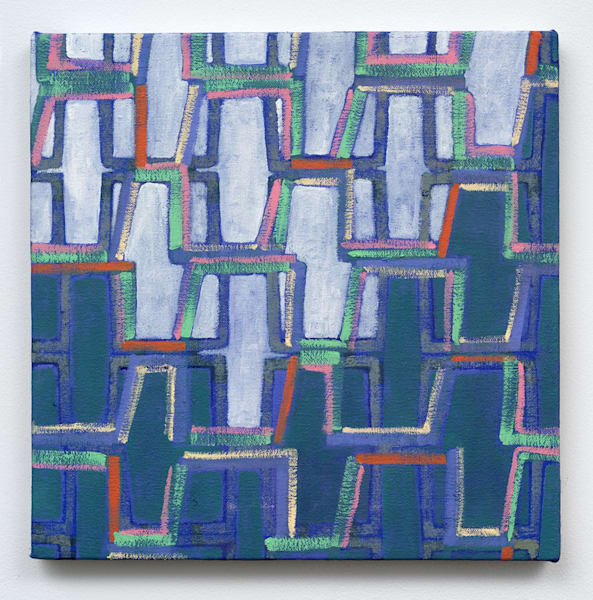 Design For Living No. 4, oil on canvas, 12 x 12 IN