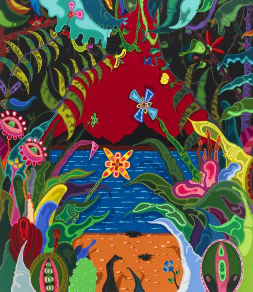 Big New World, 2012  acrylic paint on canvas  80