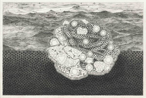 The Known Universe #3, 2012, pencil on paper, 11 3