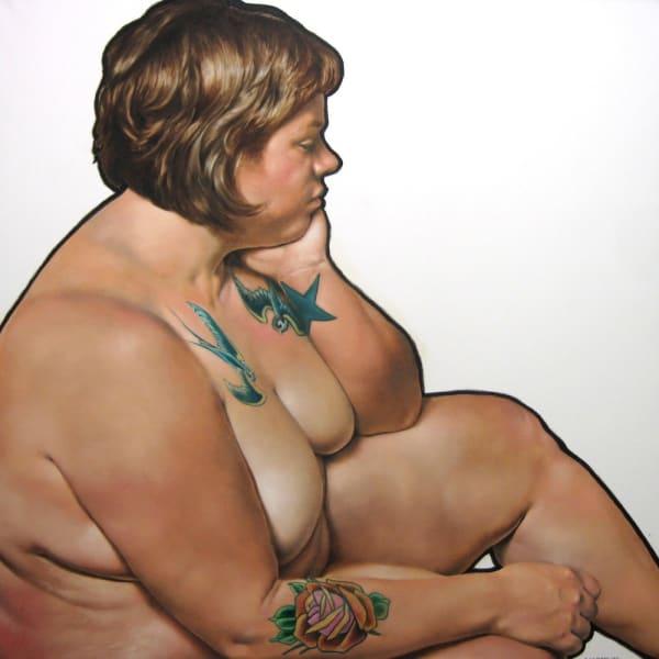 The Barrista, oil on canvas, 48