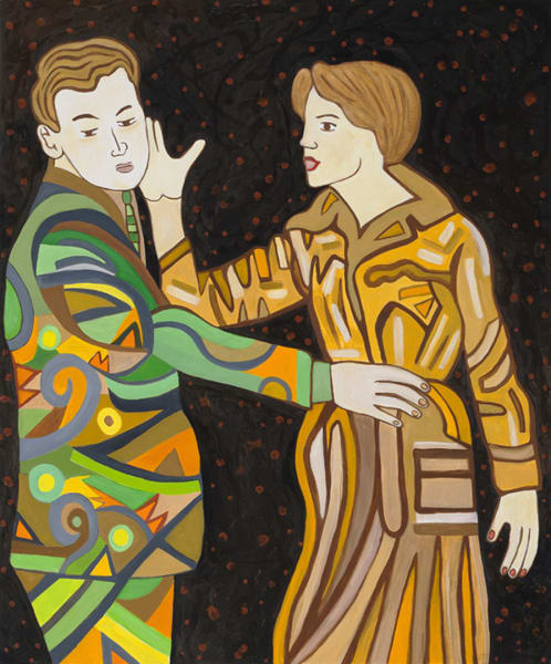 The Slap, 2012, oil and enamel on canvas, 24