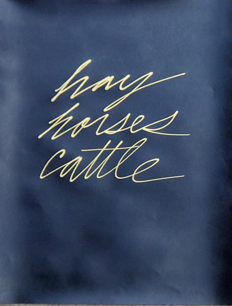 EJW1303, hay horse cattle, 2013, 24 ½ x 19 inches