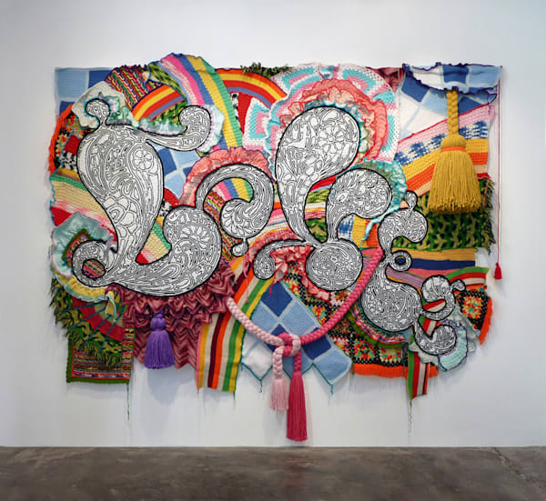 Miyoshi Barosh, Love, 2007, repurposed afghans, ac