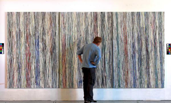 Cascade (Scale), Three Panels, each 80 x 54 in., O