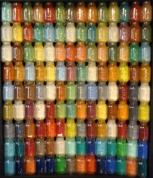 """Pareidolia"", 2012 Mason Jars, Acrylic and Wo"
