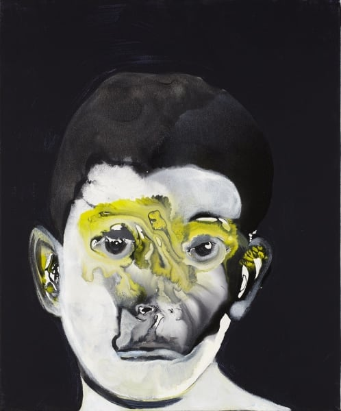 Untitled (Head), 2012, Acrylic and oil on Canvas,