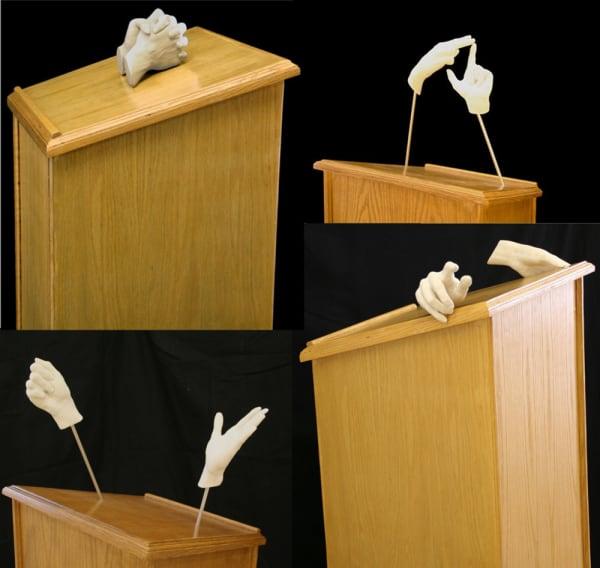 Rachel Mason, Podium (montage), 62 x 24 x 18 inche