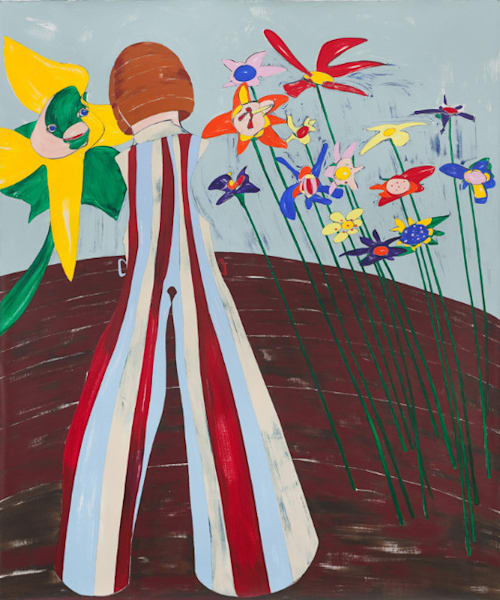 In the Garden, 2014; Acrylic on linen, 85 x 71 inc