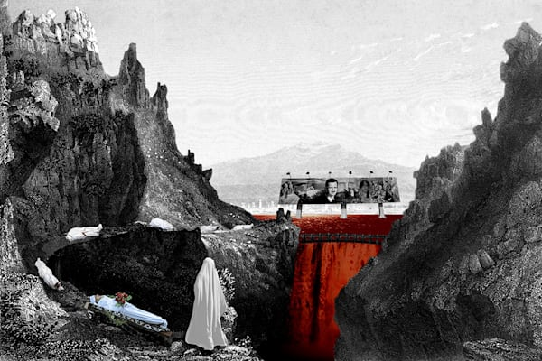 The Dam, 2013, photomontage, 18 x 12 inches, archi