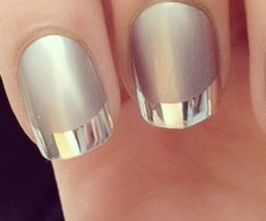 Mani of the Day: Silver Tips