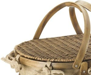Bent Wood Picnic Basket