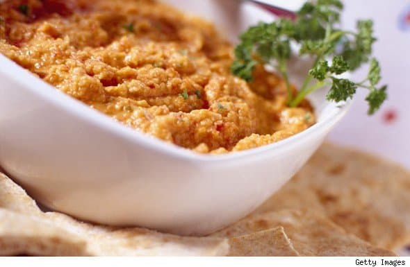 Recipe: Roasted Red Pepper and Almond Dip