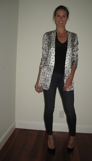 Look of the Day: Printed Blazer with Black