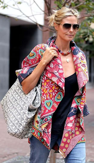 Look of the Day: Colorful Quilted Coat