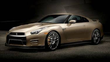 Nissan GT-R in gold
