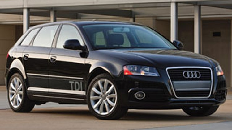 Volkswagen Jetta and Golf or Audi A3 TDI diesel models: 210 pmpg