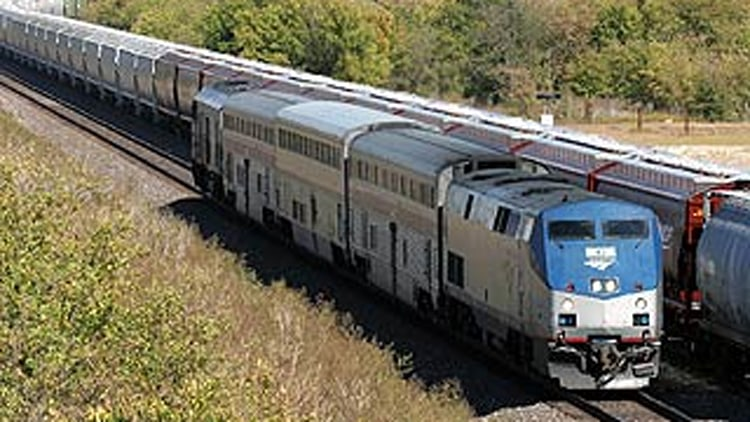 Diesel-Electric Amtrak Train: 317 pmpg