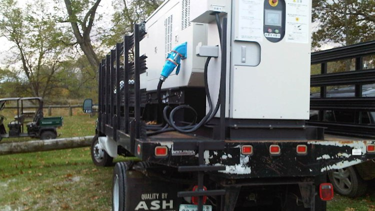 Diesel Trailer used on the Nissan Leaf tour