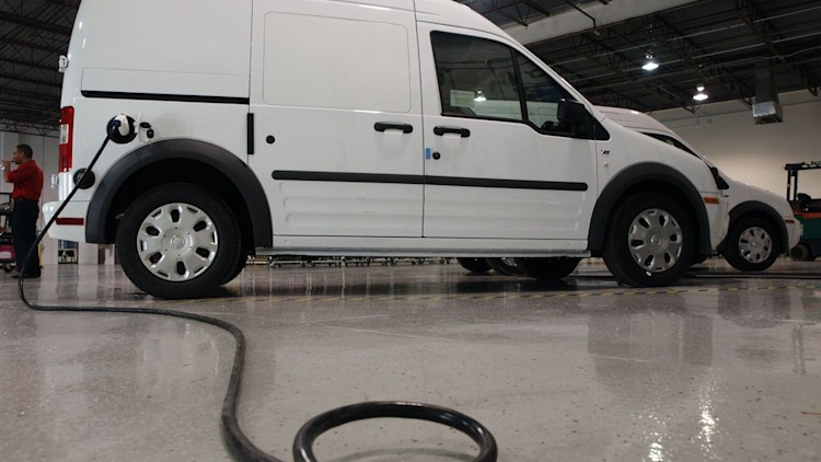ford transit connect electric van