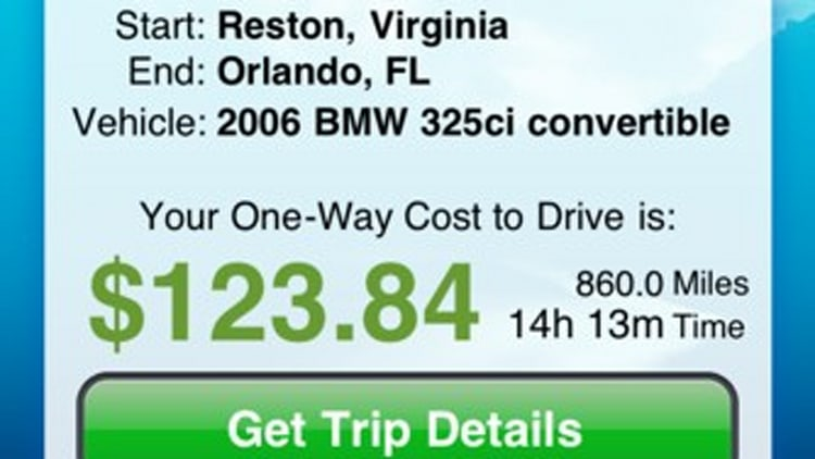 Cost 2 Drive iPhone App