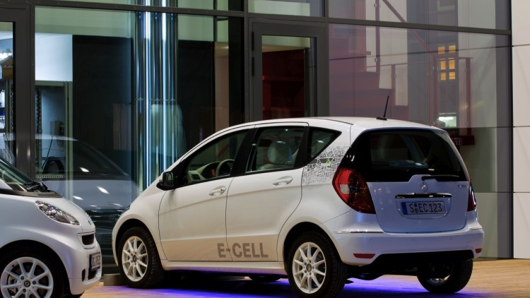 Daimler B-Class E-Cell Inductive Charging Tests