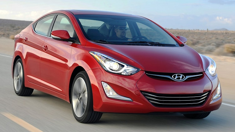 red hyundai elantra