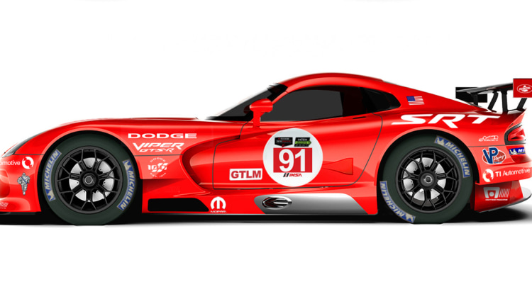 dodge viper gts r goes back to old school livery autoblog. Black Bedroom Furniture Sets. Home Design Ideas
