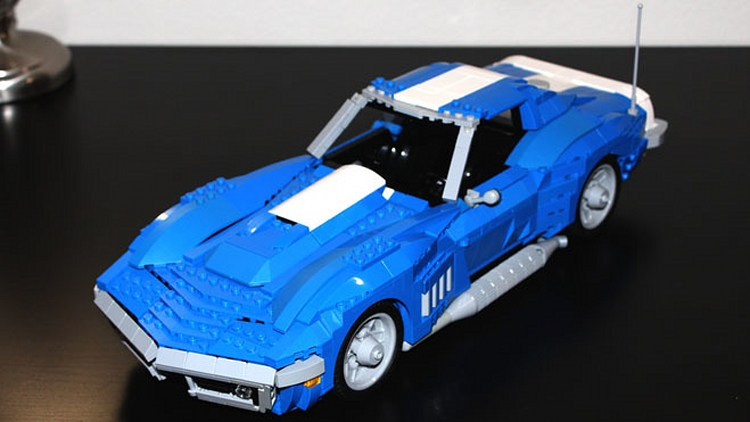 Blue Motor Car Lego Old